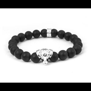 Dog Fever Sterling Silver & Onyx Lab Bracelet